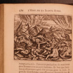 1698 History of the BIBLE Illustrated de Sacy Famous Royamond Bible Fontaine