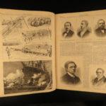 1881 1st ed Harper's Weekly President Garfield & Alexander II Assassination HUGE