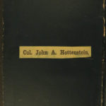 1861 Owned & SIGNED by Col John Hottenstein Civil War Colored Infantry