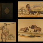 1841 Wild Sports of Southern Africa Harris 1st Big Game Hunting Book Illustrated
