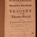 1697 Sophonisba Nathaniel Lee Restoration English Theatre Hannibal Carthage ROME