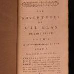 1778 Gil Blas History & Adventures Le Sage Literature CLASSIC 4v English