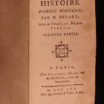 1770 1st CANADA History of Emily Montague Frances Brooke Canadian French Novel
