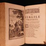 1691 Virgil Travesty Paul Scarron Parody Literature Aeneid Mythology Trojans 2v