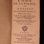 1767 Police Code Paris France Prostitution WINE Women Cabarets Magic Games 2v