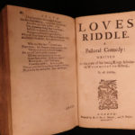 1681 Abraham Cowley English Poetry Mistress Motto Pindar Ode Davideis Sylva