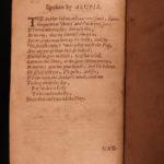 1681 Abraham Cowley English Poetry Mistress Motto Pindar Ode Davideis Sylva
