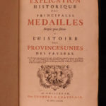 1723 1ed History of Netherlands Holland ENORMOUS Dutch MEDALS COINS Utrecht