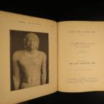 1898 Egypt Archaeology Deshasheh Pharaoh Tombs Illustrated Mummies Hieroglyphics