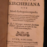 1679 Tariffa Athanasius Kircher Mathematics Geometry Navigation Pythagoras Tables