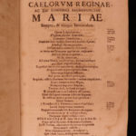 1694 Polyanthea Mariana Mariology MIRACLES Mary Immaculate Conception Marracci