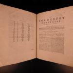 1740 The ODYSSEY Homer Mythology Greek & Latin Batrachomyomachia Samuel Clarke