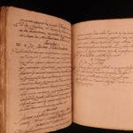 1650 ASTRONOMY Handwritten Manuscript of Dominican Aquinas Monks Philosophy