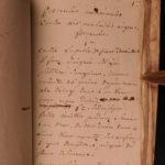 1700 RARE Handwritten Medical Manuscript Medicine Disease Cures Plague Fevers