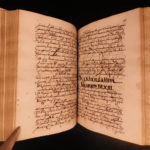 1720 Handwritten LAW Manuscript Civil LAW Latin Italian Cases Italy RARE 62+322p