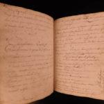 1764 RARE Handwritten MEDICINE Surgery Manuscript Anatomy Chirurgie Health