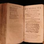 1589 1st ed Poems of Benito Arias Montano Spanish Poetry Latin Plantin Antwerp