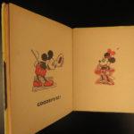 1936 1ed Mickey Mouse Alphabet Walt DISNEY Minnie Children Color Illustrated