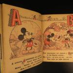 1936 1ed Mickey Mouse Alphabet Walt DISNEY Minnie Children's Color Illustrated