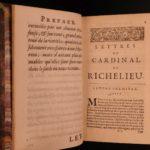 1696 Letters of Cardinal Richelieu French Politics Catholic Church Habsburgs 2v