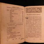 1741 Hebrew Bible TORAH Leipzig Biblia Hebraica Judaica Lexicon Reineccius