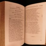1795 Six Books of Plants Abraham Cowley English Poetry Coca Herbs Flowers RARE