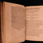 1597 1st ed Confessio Pope Gregory I Catholic Church Sacraments Miracles Petreus