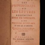 1688 Blaise Pascal Provincial Letters Witchcraft Sorcery JESUIT Philosophy Magic