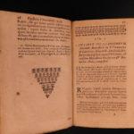 1666 Saint Venerable BEDE English Monk Cosmology Church History Bible Latin