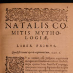 1584 1ed FAMOUS Classical Mythology Mythologiae Comes Greek & Roman Esoteric