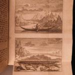 1769 1ed History Greenland Maps Norse Vikings David Cranz Swedish Illustrated