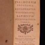 1741 BIBLE Biblia Sacra Vulgate Latin Sixtus V Clement VIII Vincent Apocrypha 6v