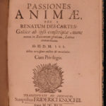 1692 Rene Descartes Passions of the Soul Philosophy Psychology Metaphysics Latin