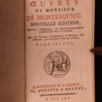 1765 Works of Montesquieu Spirit of the Laws Political Government MAPS French 6v