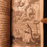 1634 Jeremias Drexel on Free Will Heliotropium Character of God Allegory Emblems