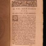 1693 1ed Martial Epigrams Roman Poetry Epigrammata Corruption in Rome Jouvency