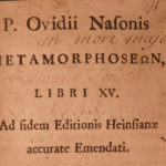 1698 Metamorphoses of OVID Roman Greek Mythology + London Jan Minell Commentary