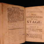 1698 English Theater Defense Against Jeremy Collier Plays Dennis & Congreve 2in1