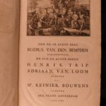 1721 1ed ENORMOUS Dutch Suikers History of the World DUTCH Illustrated 5v Maps