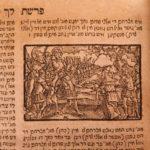 1785 RARE Yiddish Hebrew BIBLE Torah Aron Frankl Sulzbach Old Testament WOODCUTS
