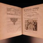 1670 Pignoria Mensa Isiaca EGYPT Illustrated Egyptian Hieroglyphics A. Kircher