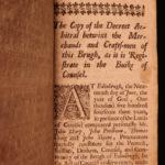 1683 1ed SCOTTISH LAW King James VI Sett Edinburgh Scotland England Merchants