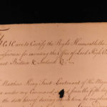 1745 Admiral Keppel SIGNED Handwritten Letter Royal Navy British Ship Saphire