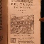 1574 Rime of Petrarch Italian Renaissance Poetry Ridolfi & Cambi Petrarca RARE