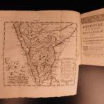 1757 1ed History of Mughal Empire INDIA Revolutions Persia Sultans MAP Mascrier