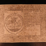 1778 Revolutionary War MONEY Early American Banknote $5 Dollars Finance