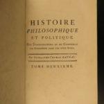1781 Raynal on Colonization BANNED Slavery China Thomas Jefferson Politics 10v