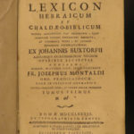 1789 Buxtorf HEBREW & Latin Jewish Bible Lexicon Dictionary Judaica Rabbinica 4v