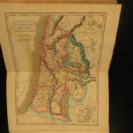 1838 ATLAS Hand-colored MAPS Ancient Geography Greece Holy Land France Britain