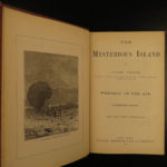 1875 1st ed Jules Verne Mysterious Island Wrecked Shipwrecks 20000 Leagues